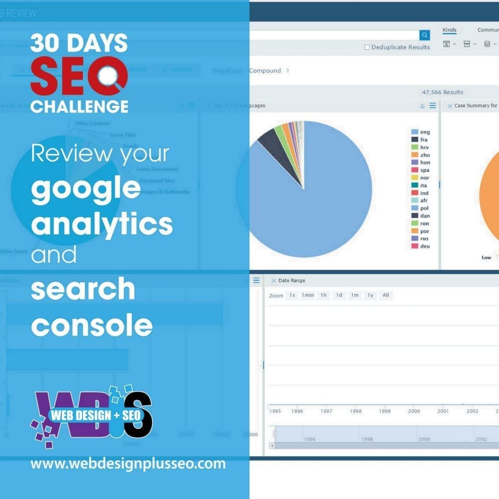 Day 30: Review your Google Analytics and Search Console 1
