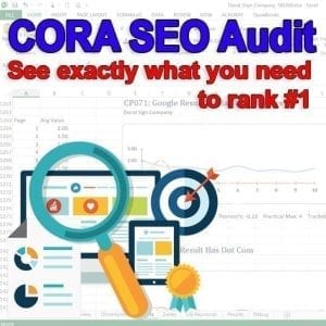Cora SEO Audit Services